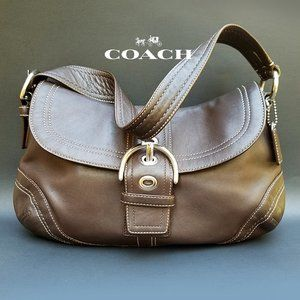 Coach Brown Leather Soho Buckle Flap Shoulder Bag